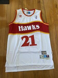 Retro 86 87 Dominique Wilkins #21 Atlanta Hawks Camiseta Jersey Baloncesto