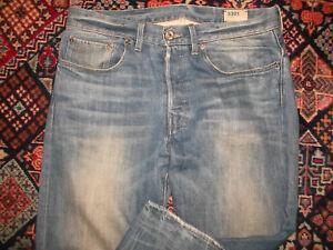 rare-G-STAR-Jeans-blau-vintage-used-look-gstar-pants-straight-leg-Gr-31-36