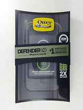 OtterBox Defender ION 1450mAh Battery Charger Hard Case for iPhone 4 4S (BLACK)