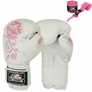 Grappling Gloves Ladies Boxing Punch Bag Kick Muay Thai Womens BeSmart MMA