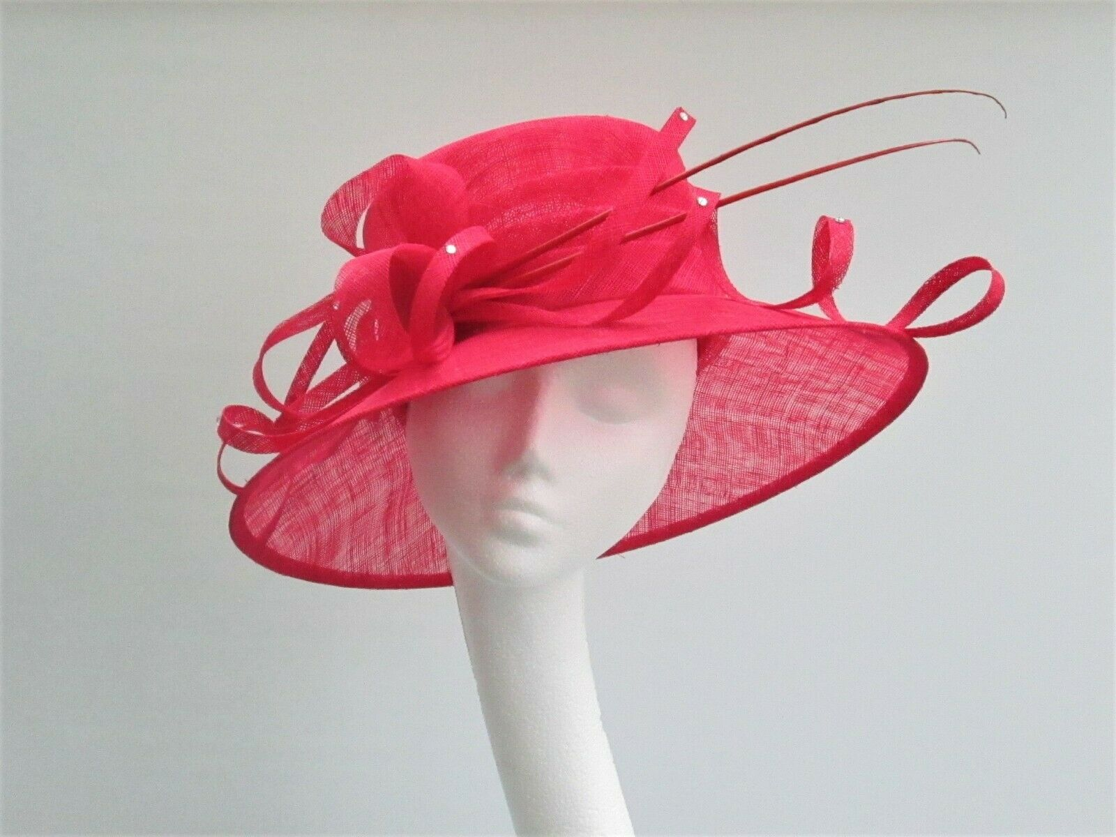 Red Wedding Occasion Races Hat