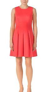 eb9bb35da63cb Ted Baker 52-coral Dress Sz 3 UK Flippy Midi Dress