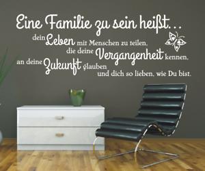 X4680-Spruch-Wandtattoo-Familie-zu-sein-Leben-Vergangenheit-Sticker-Wandbild