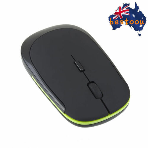 Slim Mini Wireless Optical Mouse Mice USB Receiver 2.4GHz for Laptop PC AU