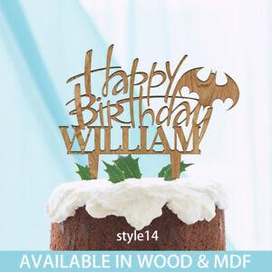 Image Is Loading BATMAN Boys Birthday Cake Topper PERSONALISED Wood