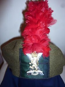 dc86be64ef4 ROYAL REGIMENT OF SCOTLAND TAM O SHANTER WITH BADGE AND RED HACKLE ...