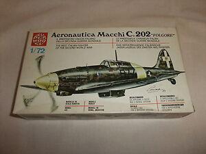 Flugzeug Modell Bausatz 1:72 Supermodel Jagdflugzeug Macchi C.202 2. Weltkrieg