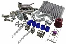 GT35 Turbo Kit + Intercooler Manifold Downpipe For 92-98 BMW E36 Top Mount