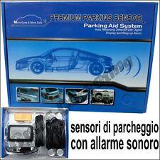 KIT PRO ASSISTENTE 4 SENSORI DI PARCHEGGIO DISPLAY BIP AUTO PER FIAT panda