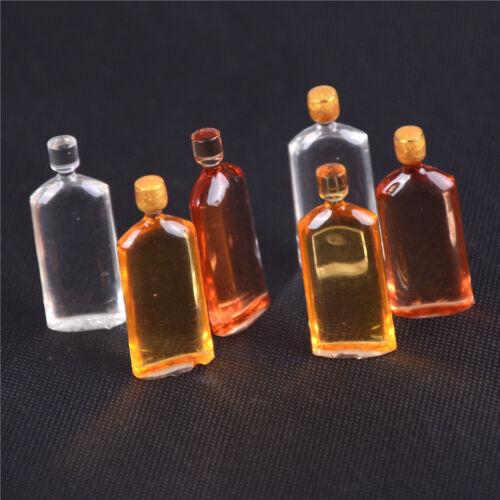 6x Dollhouse Miniature Wine Whisky Bottles Pub Bar Drink Accessory Mini Decor SP