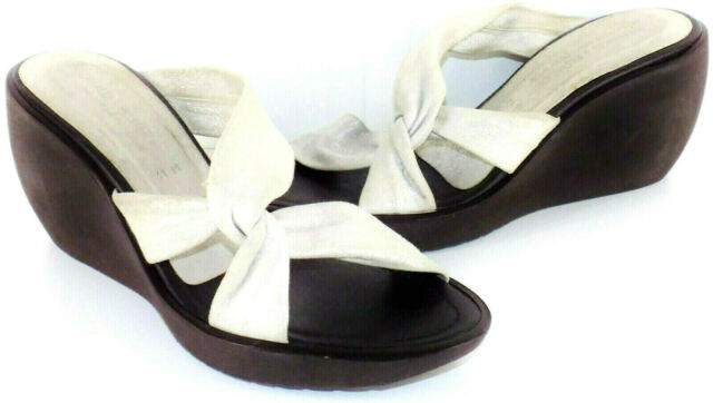 Donald J Pliner Twist Strap Vamp Platform Wedge Sandals Women's Size 11M