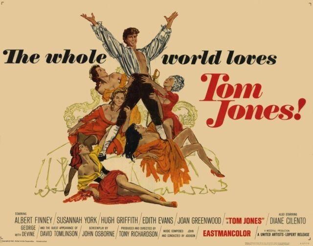TOM JONES Movie POSTER 22x28 Half Sheet Albert Finney Susannah ...