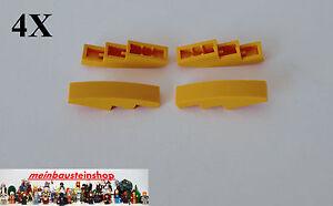 4X Lego® 11153 / 61678 Bogensteine Slope Curved 1X4 Hellorange Light Orange NEU
