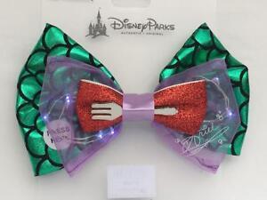Little Mermaid Ariel Hair Bow Clips X2 Handmade Ribbon disney princess
