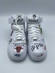 Details about Supreme x Nike x NBA Teams Air Force 1 Mid White SS18 Size US Men Size 12