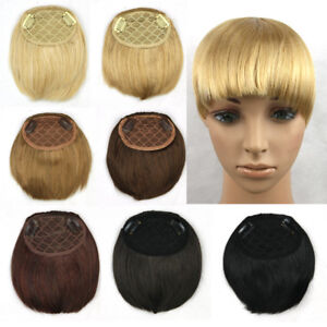 Women-Straight-Synthetic-Hair-Bangs-Fringe-Clip-in-Hair-Pieces-Extensions