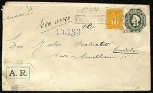 S1675-Chile-Spain-Postal-Stationery-Reco-1892-Colon-Enteropostal