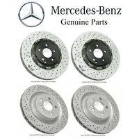 Mercedes R171 W209 Set Of 2 Front & Rear Disc Brake Rotors Kit Vented Slotted Oe on sale