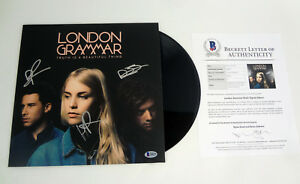 London-Grammar-Band-Signed-Truth-Is-A-Beautiful-Thing-Vinyl-Record-Beckett-COA