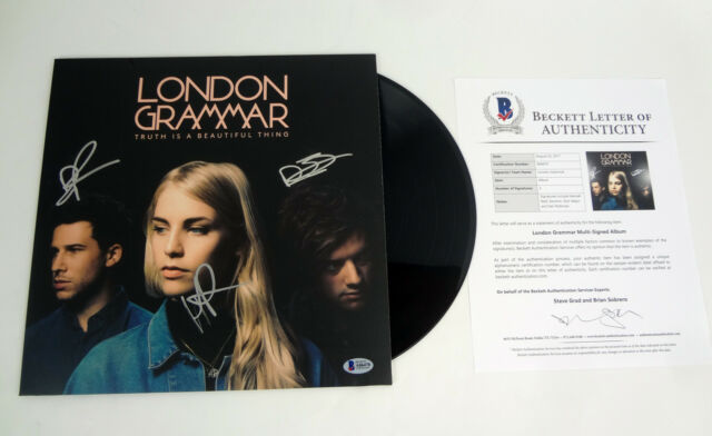 London Grammar Band Signed Truth Is A Beautiful Thing Vinyl Record Beckett COA