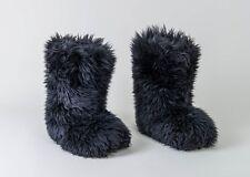 Women's Ugg Australia FLUFF MOMMA 5302 Black Boots Size 8 Shearling Sheepskin