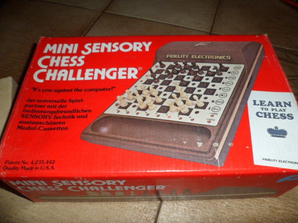 Ajedrez Chess mini sensory Chess Challenger prueba con con con fuente de alimentación más fácil error 501851