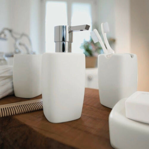 Spirella Retro White Seifenspender Spender Retro-Design in mattem Steingut