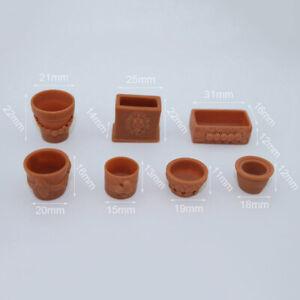 1-12-Miniature-potted-model-dollhouse-diy-doll-house-decor-accessorie-D