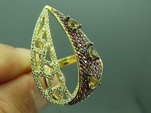 Turkish-Handmade-Jewelry-925-Sterling-Silver-Ruby-Stone-Women-Ring-Sz-7