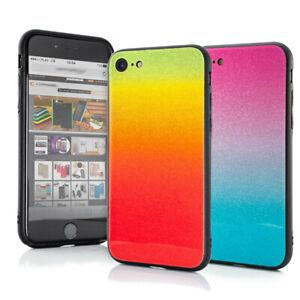 Samsung Schutzhülle Silikon Handyhülle Cover Case Farbverlauf Regenbogen Ombre
