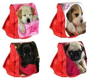 nursery school Personalised Child/'s  Backpack Rucksack Pug dog Personalized Bag