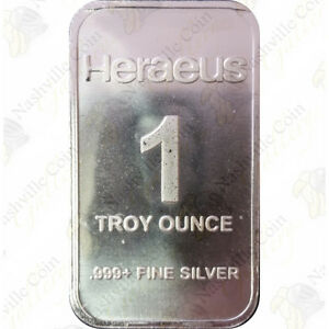 Silver Bar (Generic) — 1 oz .999 Fine Silver — SKU #60401