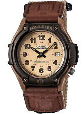 Casio FT500WC-5BV, Forester, Analog Watch, Beige Nylon Strap, Date, 100 Meter WR