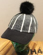 0e3bd3f4f15 item 6 NWT WOMENS VINCE CAMUTO HAT BLACK WHITE STRIPED WITH BLACK POM  ADJUSTABLE H4 -NWT WOMENS VINCE CAMUTO HAT BLACK WHITE STRIPED WITH BLACK  POM ...