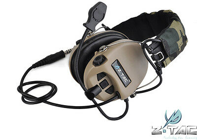 Z Tactical SORDIN Type Headset Navy SEAL Devgru lbt aor1 Z111-DE