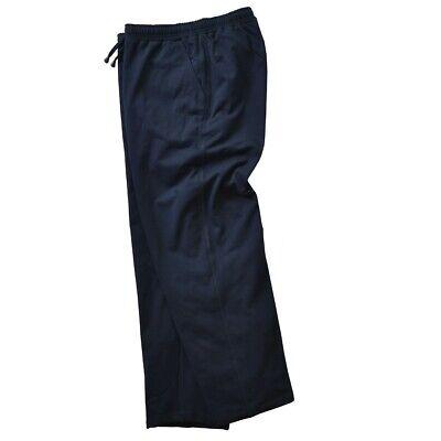 Adamo Uomo Jogging Pantaloni Navy 2xl 3xl 4xl 5xl 6xl 7xl 8xl 9xl 10xl 12xl 14xl Nuovo-