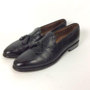 90371cb4017 Allen Edmonds Grayson Size 9.5 A Extra Narrow Black Leather Tassel ...