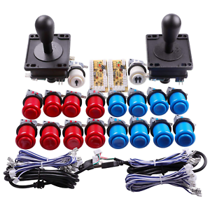 Details about New 2-Player Arcade Buttons and Joystick DIY Controller Kit  for Raspberry Pi