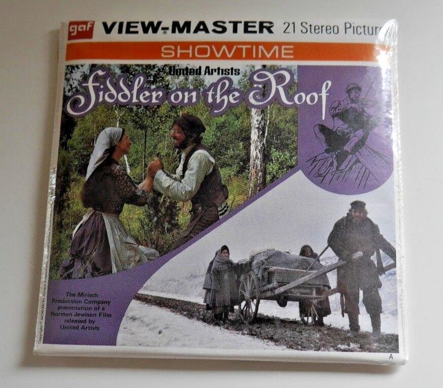 MINT   SEALED  FIDDLER ON THE ROOF VIEWMASTER REELS SET B390 RARE  B017