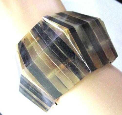 MONIES Amazing /& HUGE Genuine Buffalo Horn Geometric Bracelet