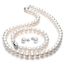 Freshwater Cultured Pearl Necklace Set STUNNING Bracelet Stud Earrings Jewelry