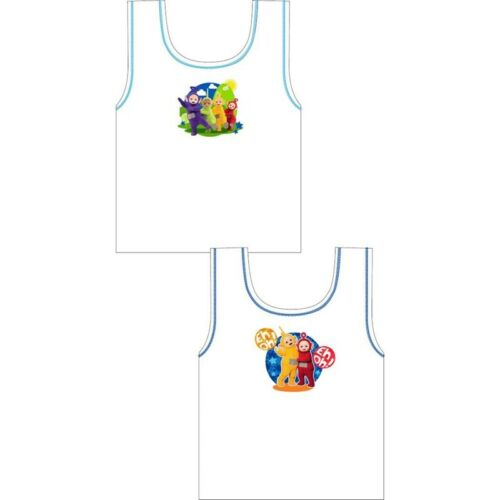 BOYS Girls Kids 2 pack Character Cotton Vests Top Underwear 1,5-8 years 92-128cm