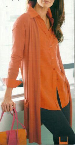 Gilet Tricot Veste Cardigan Cardigan soie orange Taille 36 Neuf