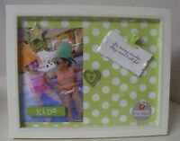 Hallmark Kids Magnetic Frame With 4 Magnets Green White Polka Dots Smiles