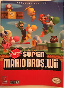 New-Super-Mario-Bros-Wii-Prima-Guide-Book-First-Premiere-Edition-Nintendo-Rare