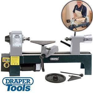 Draper 230v 250w Wood Turning Mini Lathe - Variable Speeds - Woodworking Tool