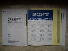 SONY VHS *SLV-E727VC* Bedienungsanleitung in deutscher Sprache 1998