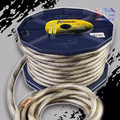 OFC Copper 665 Strand Count 8 Gauge AWG Platinum Power Ground Wire Cable 200ft
