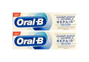 2x-Oral-B-Zahnfleisch-und-Zahnschmelz-Repair-Original-Zahnpasta-75-ml