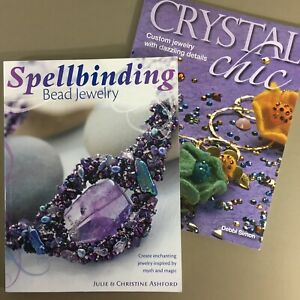 Lot-of-2-jewelry-craft-books-Spellbinding-Bead-Jewelry-amp-Crystal-Chic